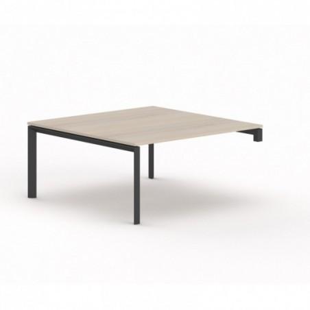 Vue 3D bureau carré U-SIMO L220