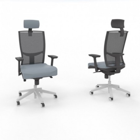 Vue 3D siège I-SIMO 599327 Tasmania bleu gris