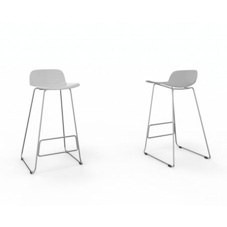 Vue 3D tabouret N-SIMO blanc